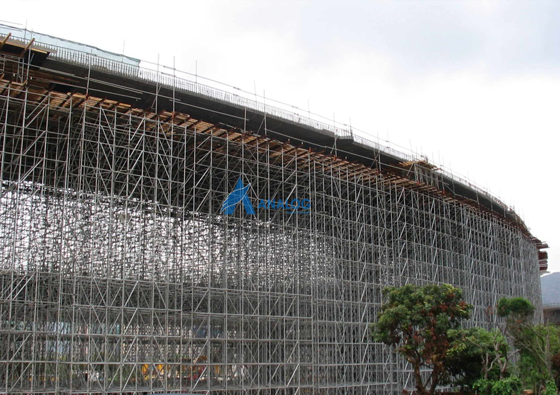 Scaffolding for heavy support for shoring