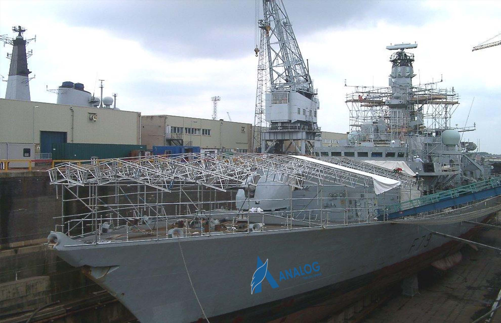 Scaffolding for Ship Building Repair and Maintenance