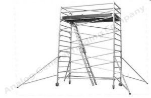 Silver Aluminum Mobile Tower Scaffold