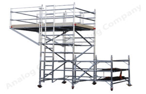 Silver Mobile Scaffold Tower With Cantilever Platform