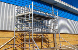 Silver Single And Double Width Aluminum Scaffold - Analog Gulf